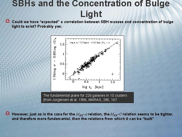 """SBHs and the Concentration of Bulge Light d Could we have """"expected"""" a correlation"""