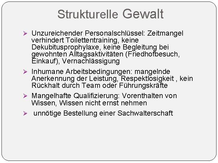 Medical Peace Work Online Kurs 4 Strukturelle 9