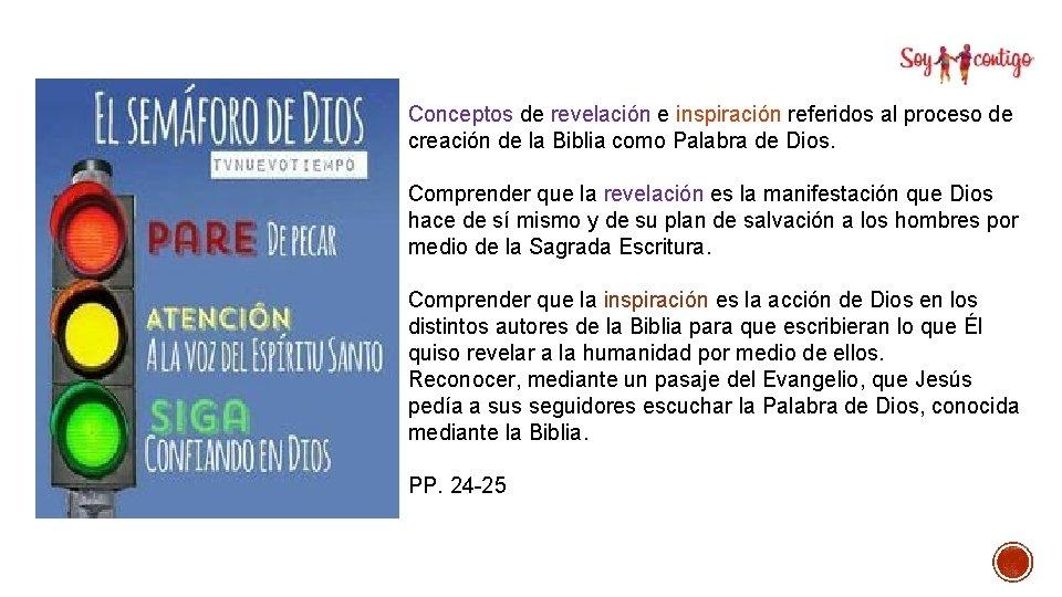 Conceptos de revelación e inspiración referidos al proceso de creación de la Biblia como