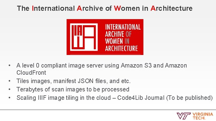 The International Archive of Women in Architecture • • A level 0 compliant image