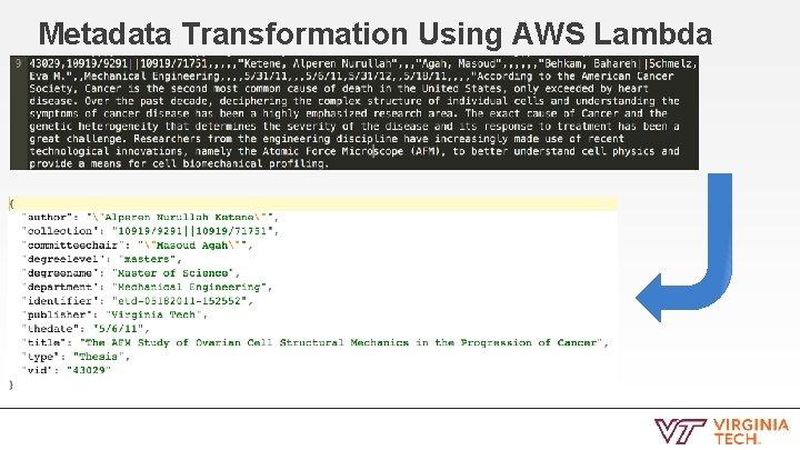 Metadata Transformation Using AWS Lambda