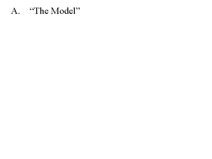 """A. """"The Model"""""""