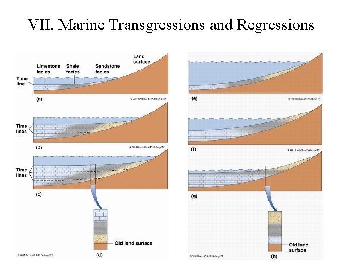 VII. Marine Transgressions and Regressions