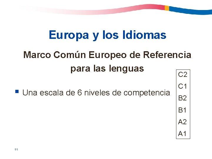 Europa y los Idiomas Marco Común Europeo de Referencia para las lenguas C 2