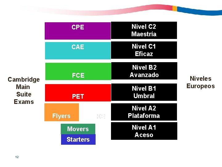 Cambridge Main Suite Exams CPE Nivel C 2 Maestría CAE Nivel C 1 Eficaz