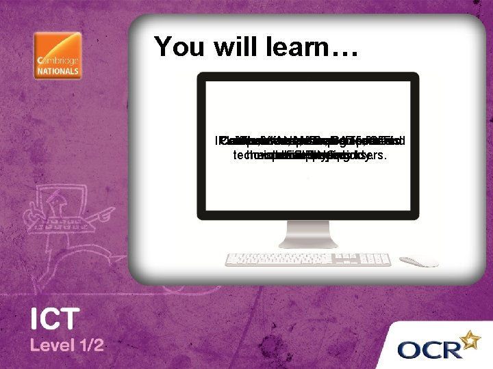 You will learn… IP Common Computer LANs, addresses, Assistive WANs, hardware technologies MAC IDs,