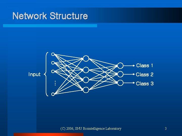 Network Structure Class 1 Input Class 2 … Class 3 (C) 2006, SNU Biointelligence