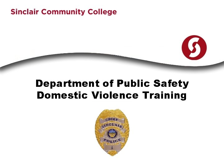 Department of Public Safety Domestic Violence Training