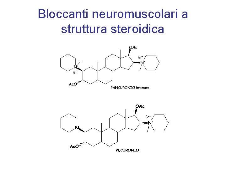 Bloccanti neuromuscolari a struttura steroidica