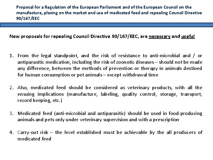 Proposal for a Regulation of the European Parliament and of the European Council on