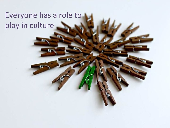 Everyone has a role to play in culture