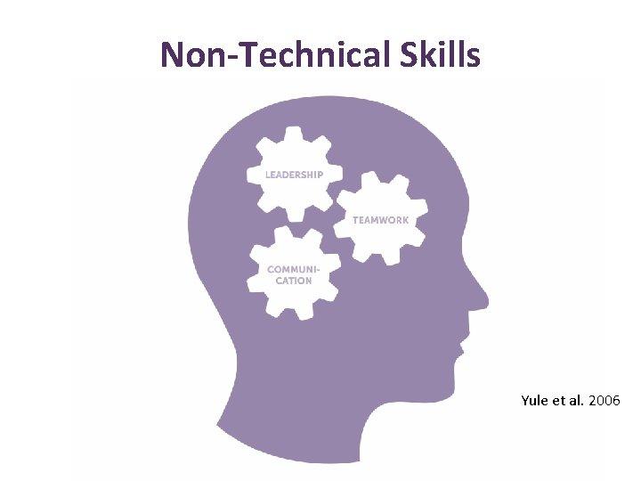 Non-Technical Skills Yule et al. 2006