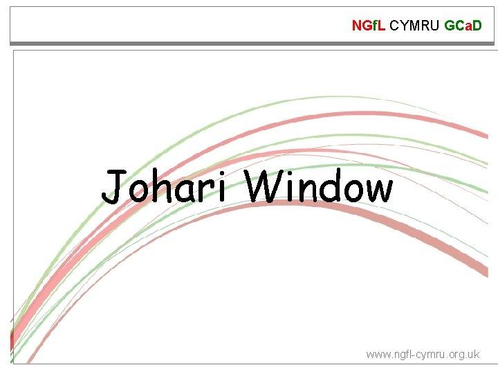 NGf. L CYMRU GCa. D Johari Window www. ngfl-cymru. org. uk