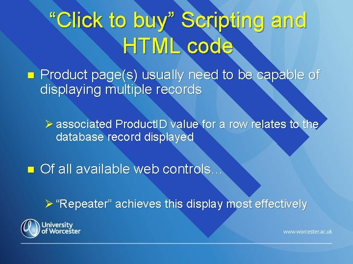"""""""Click to buy"""" Scripting and HTML code n Product page(s) usually need to be"""