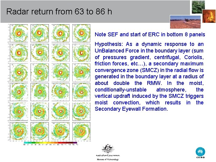 Radar return from 63 to 86 h Note SEF and start of ERC in
