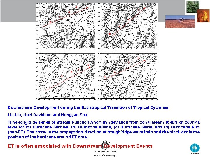 Downstream Development during the Extratropical Transition of Tropical Cyclones: Lili Liu, Noel Davidson and