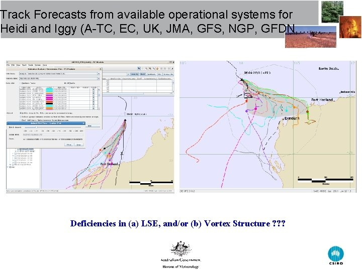 Track Forecasts from available operational systems for Heidi and Iggy (A-TC, EC, UK, JMA,