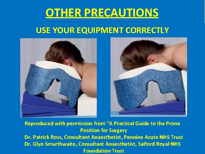 "OTHER PRECAUTIONS USE YOUR EQUIPMENT CORRECTLY Reproduced with permission from ""A Practical Guide to"