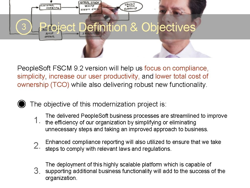 3 Project Definition & Objectives People. Soft FSCM 9. 2 version will help us