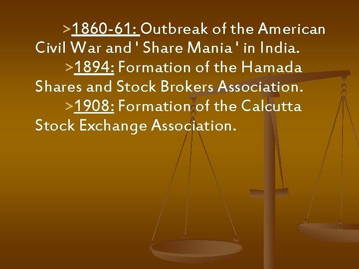 >1860 -61: Outbreak of the American Civil War and ' Share Mania '