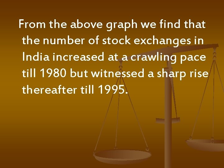 From the above graph we find that the number of stock exchanges in