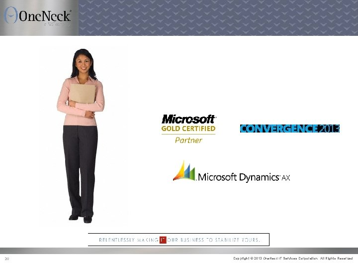 One. Neck IT Services Microsoft Certified Partner 20 Copyright © 2013 One. Neck IT
