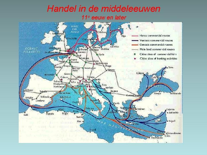 Handel in de middeleeuwen 11 e eeuw en later