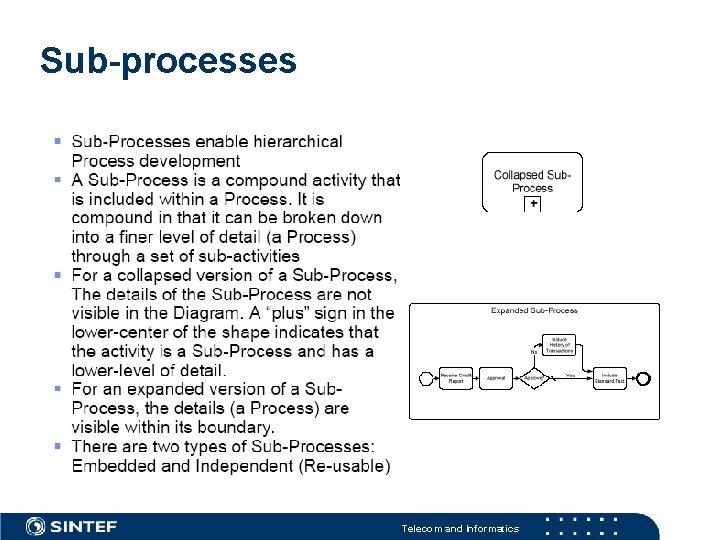 Sub-processes Telecom and Informatics