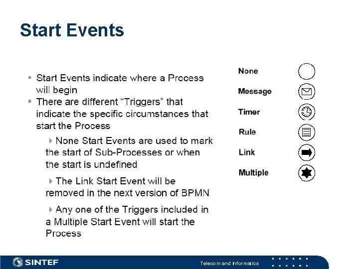 Start Events Telecom and Informatics