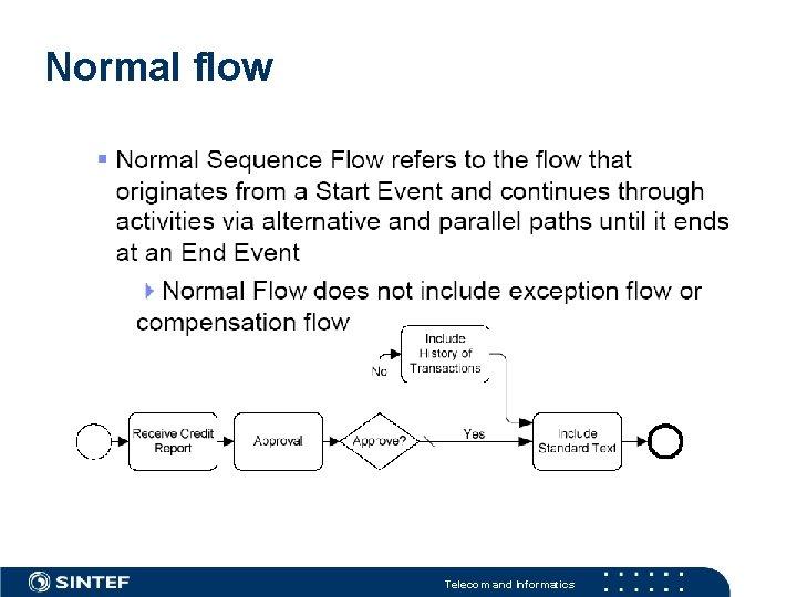 Normal flow Telecom and Informatics