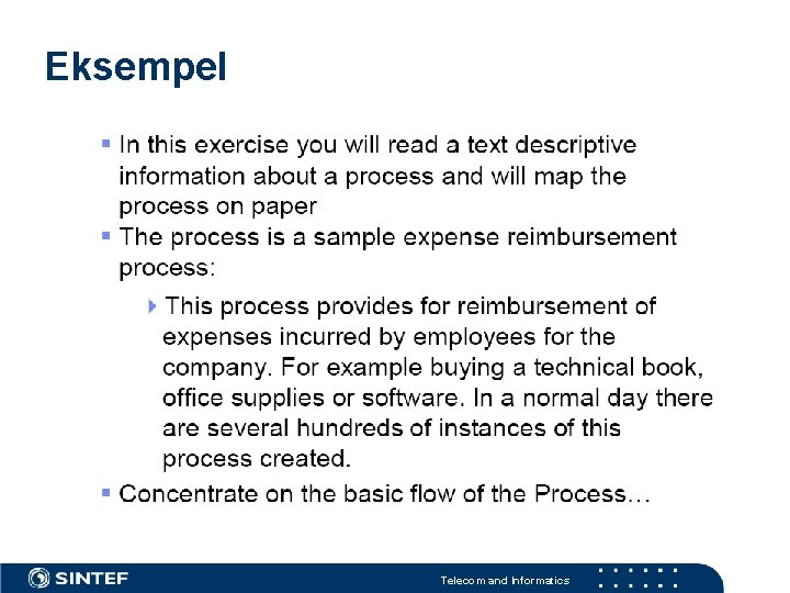 Eksempel Telecom and Informatics