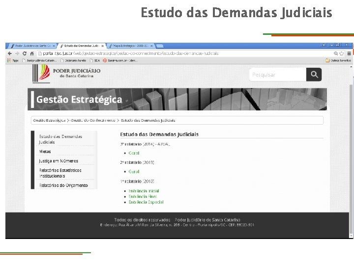 Estudo das Demandas Judiciais DIRETORIA Diretoria de Tecnologia da Informação