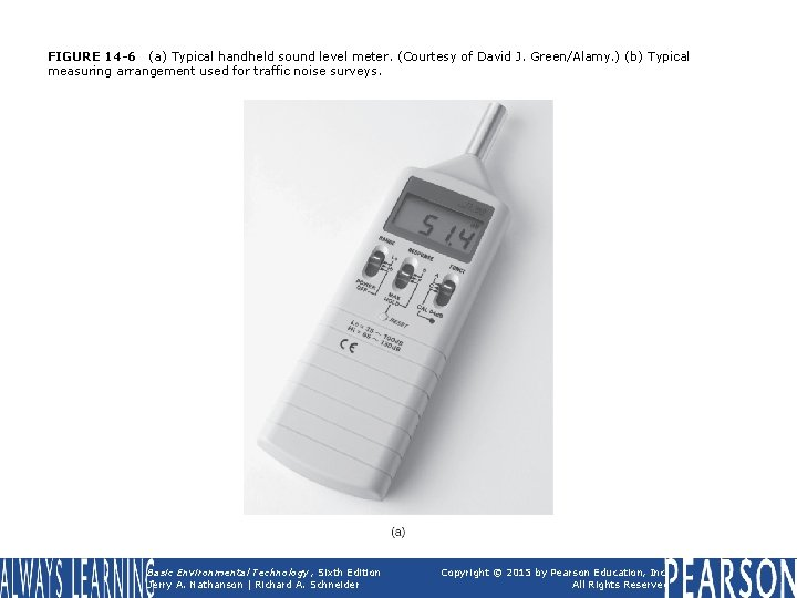 FIGURE 14 -6 (a) Typical handheld sound level meter. (Courtesy of David J. Green/Alamy.