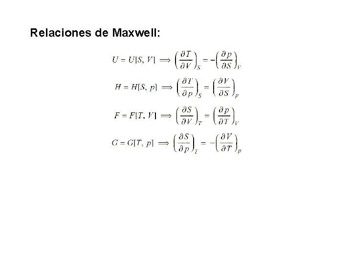 Relaciones de Maxwell: