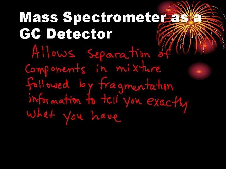 Mass Spectrometer as a GC Detector