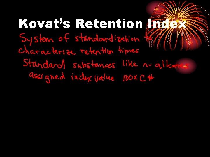 Kovat's Retention Index