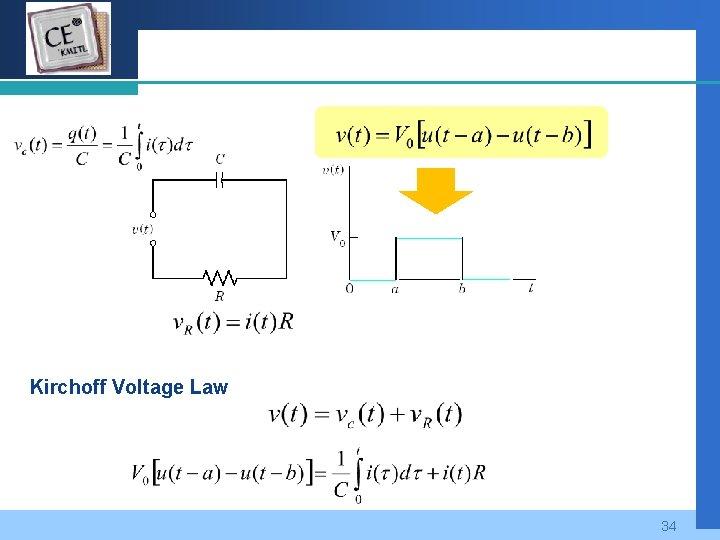 Company LOGO Kirchoff Voltage Law 34