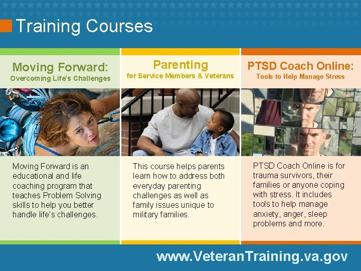 Training Courses Moving Forward: Overcoming Life's Challenges Moving Forward is an educational and life