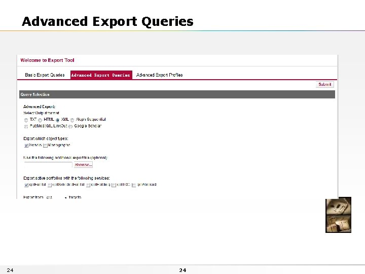 Advanced Export Queries 24 24