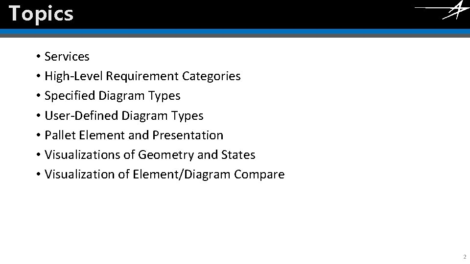 Topics Click to edit Master title style • Services • High-Level Requirement Categories •