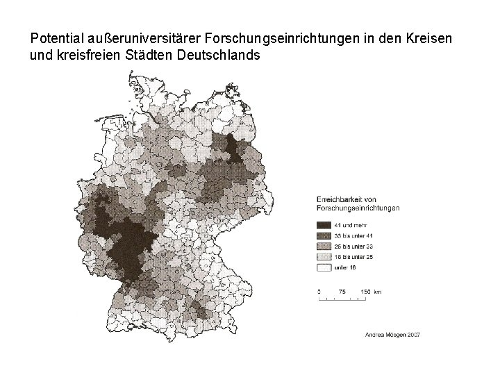 Potential außeruniversitärer Forschungseinrichtungen in den Kreisen und kreisfreien Städten Deutschlands