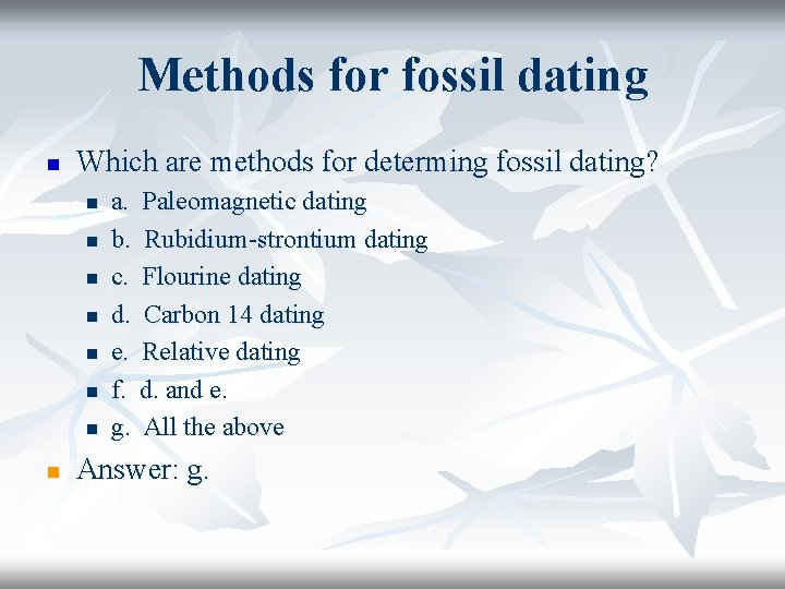 Lab dating virtual answers fossil African Fossils