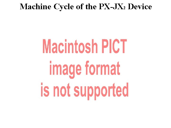 Machine Cycle of the PX-JX 2 Device