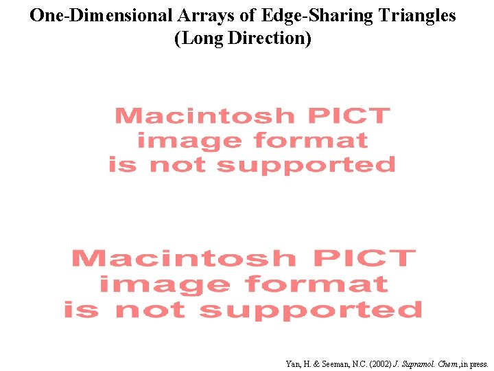 One-Dimensional Arrays of Edge-Sharing Triangles (Long Direction) Yan, H. & Seeman, N. C. (2002)