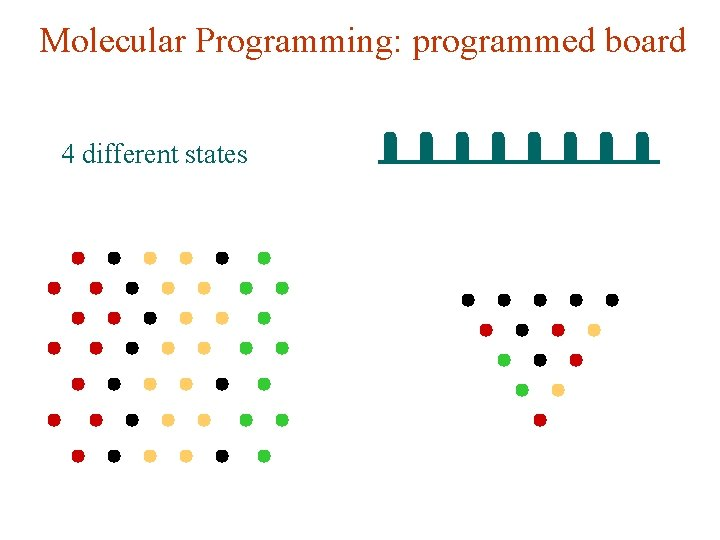 Molecular Programming: programmed board 4 different states