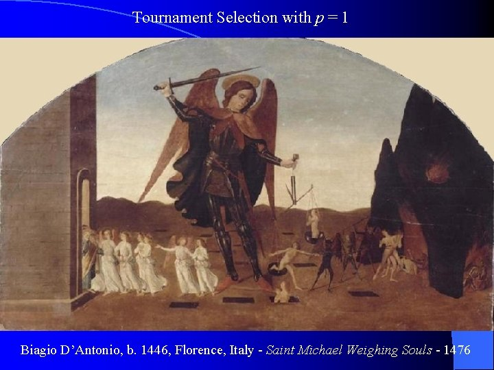 Tournament Selection with p = 1 Biagio D'Antonio, b. 1446, Florence, Italy - Saint