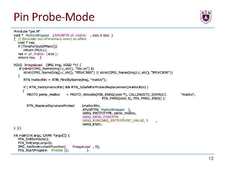 Pin Probe-Mode 13