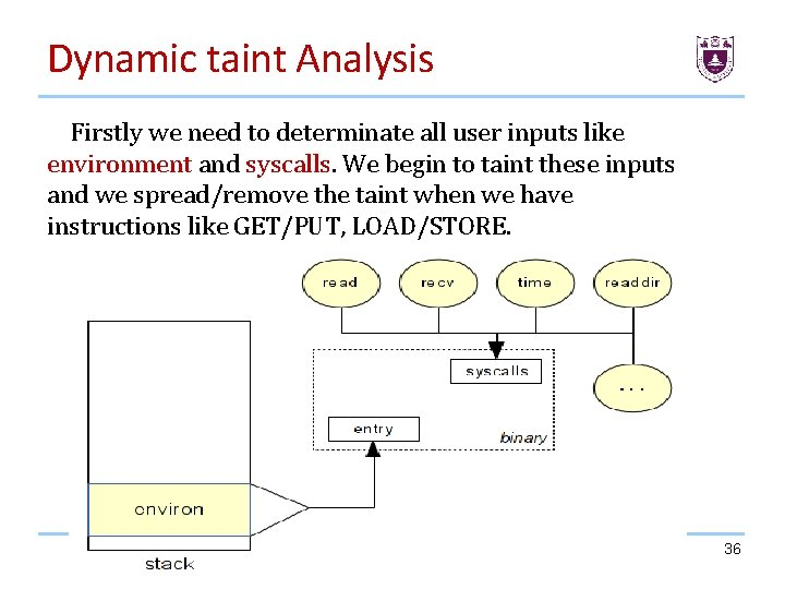 Dynamic taint Analysis Firstly we need to determinate all user inputs like environment and