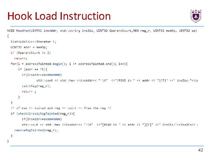 Hook Load Instruction 42