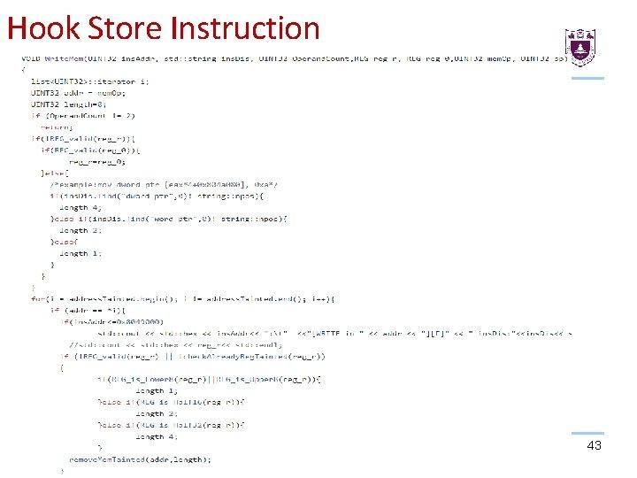 Hook Store Instruction 43